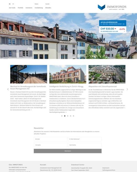 Webdesign Immobilien Fonds