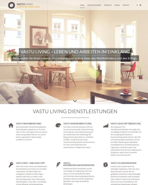 Innenarchitektur-Homepage